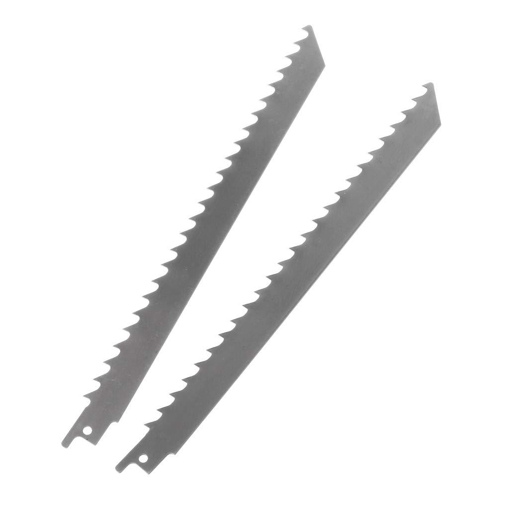 LIskybird Lot de 2 Lames de scie Sabre en Acier Inoxydable S1111K 228 mm