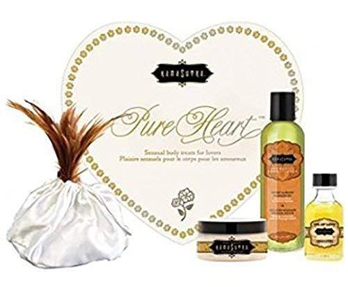 Kama Sutra Valentines Day Kit Massage Set (Pure Heart Vanilla & Honeysuckle) (Vanilla Heart)