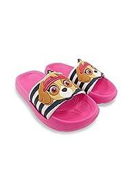 PAW Patrol Skye Girls Pink Toddler Slipper Slide Sandal