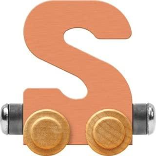 product image for Maple Landmark NameTrain Pastel Letter Car S - Made in USA (Orange)