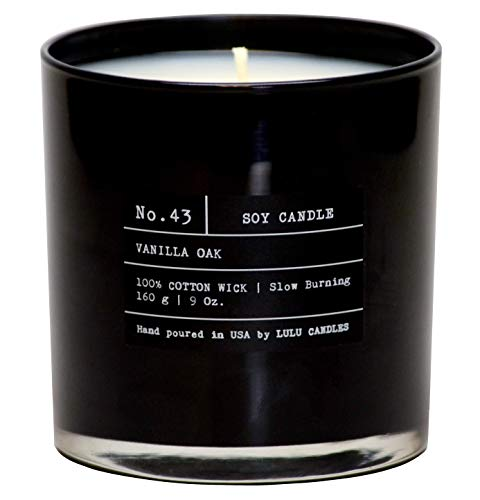 Vanilla Oak | Luxury Scented Soy Jar Candle | Hand Poured in The USA | Highly Scented & Long Lasting | 9 Oz. NO LID/NO Box