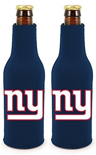 - NFL Football 2014 Team Color Logo Bottle Suit Holder Cooler 2-Pack (New York Giants)
