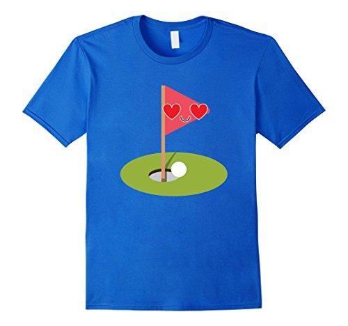 [Men's Golf Emoji Heart & Love Eye Shirt Equipment T-Shirt Tee Small Royal Blue] (Cubs Fan Costume)