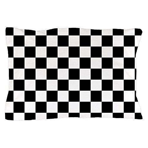 Pillow Checkered (CafePress Black and White Checkered Pattern Standard Size Pillow Case, 20