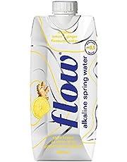 Flow Naturally Alkaline Organic Lemon Ginger Spring Water (18 x 500 ml Packs)