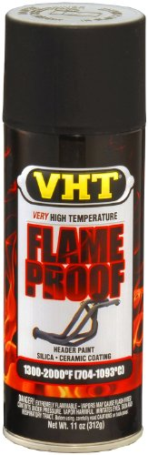 VHT SP102 FlameProof Coating Flat Black Paint Can - 11 ()