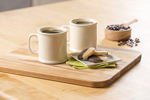 American Mug Pottery Ceramic Coffee Mug, Made in USA, Ivory, 16 oz – Pack of 2