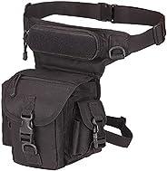 Azarxis Waterproof Airsoft Tactical Drop Leg Panel Utility Bag Hip Thigh Pouch Waist Pack Cross Over Leg Rig f
