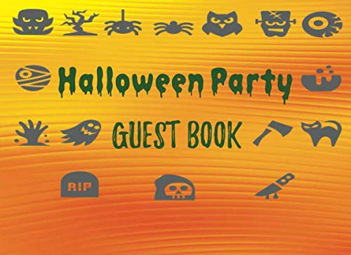 Colour Theme Party Costumes - Halloween Party Guest Book: Adult Costume