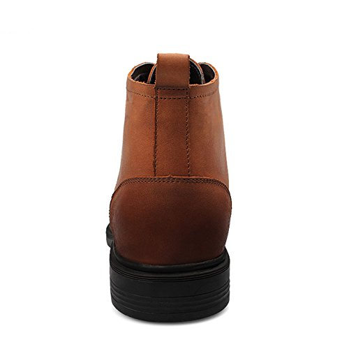 Enllerviid Men's Ankle High Warm Fashion Leather Chukka Boots Tan 7LcjeQ
