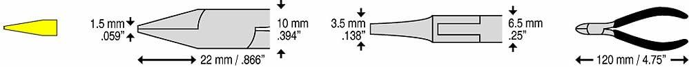 C.K T3770 Pince /à becs plats 120 mm M/âchoires lisses