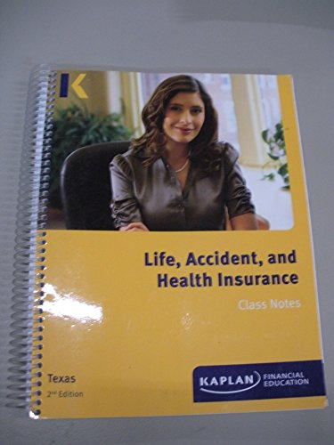 Download Life, Accident, and Health Insurance Class Notes Texas 2nd Edition Pdf