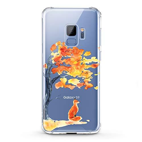 Lex Altern Samsung Galaxy TPU Case J7 MAX Core J6 Plus J4 J3 J2 Prime Cute Watercolor Orange Fox Clear Silicone Kawaii Animal Phone Cover Print Protective Lightweight Flexible Transparent Girly Women ()
