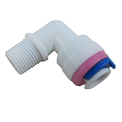 """TmallTech 1/8"""" Thread Male to 1/4"""" Tube Elbow Check Valve for RO Reverse Osmosis (Pack of 2) from TmallTech"""