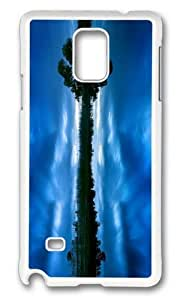 Adorable blue evening lake Hard Case Protective Shell Cell Phone Ipod Touch 5 - PC White