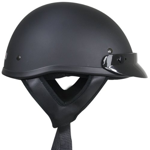Outlaw T70 DOT Solid Flat Black Half Helmet - 2X-Large by Outlaw