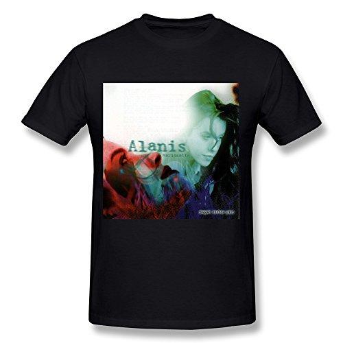 FENGDA Men's Alanis Morissette Jagged Little Pill T-Shirt L Black Short Sleeve (7 Pills Inside Out)