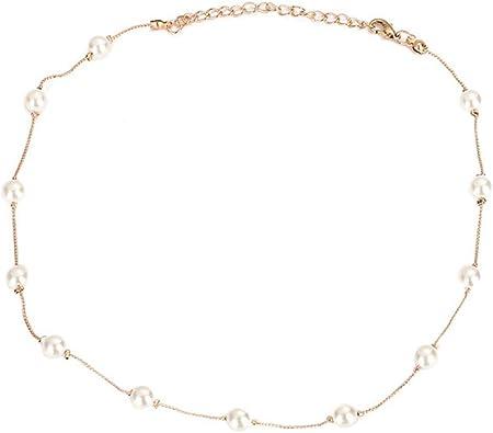 collier ras de cou argent perles