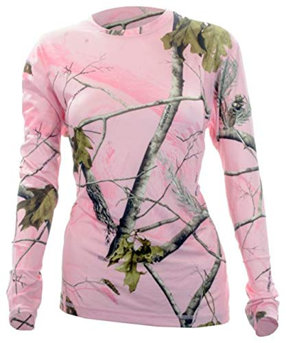 Medalist WOMENS Performance Crew long sleeve Level-2 Pink Camo Xlarge ()