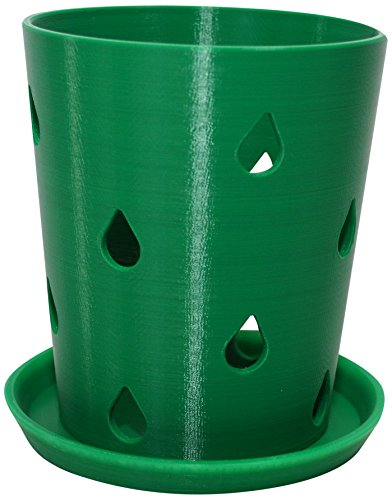 HD PRINTABLES Orchid Pot and Tray, Green, 4.5'' L by HD PRINTABLES