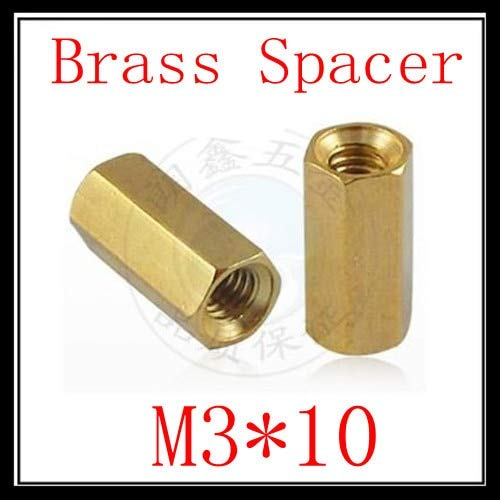 Nuts 200pcs/ lot Factory Direct Sale M310 Female to Female Brass Hex Standoff Spacer