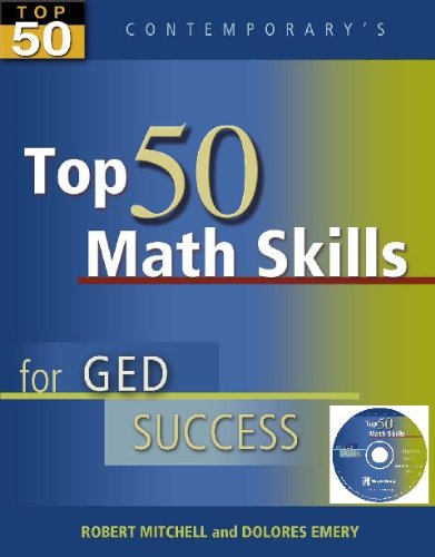 Top 50 Math Skills for GED Success, Student Text with CD-ROM (GED Calculators)