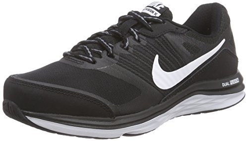 Nike Womens Dual Fusion X Running Shoe Black-White-Cool G...