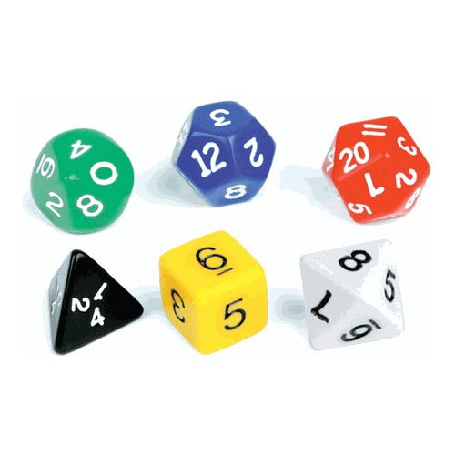 EAI Education Polyhedra Dice - Set of 150