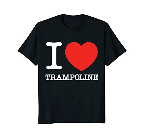 Price comparison product image I Love Trampoline Heart Funny Gift T-Shirt