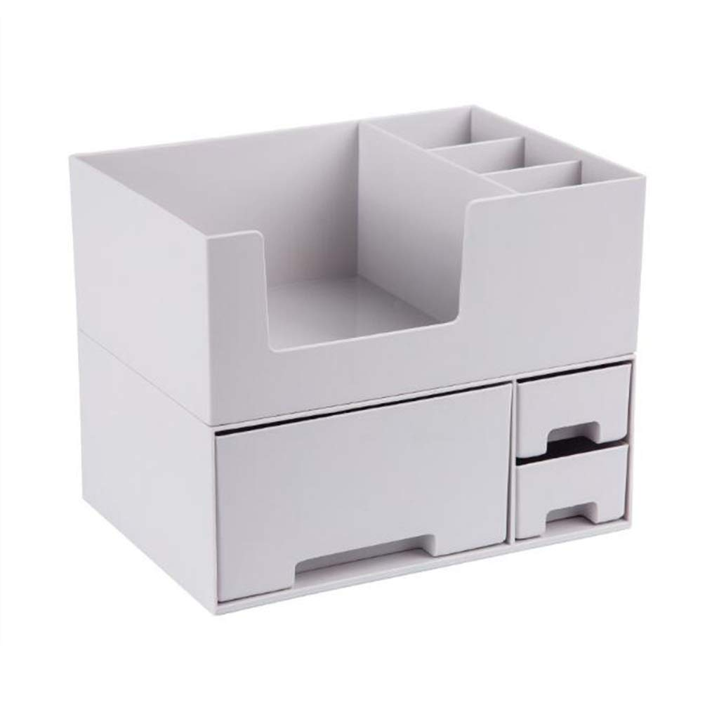 DDPGOFMB Cosmetic Organizer Cosmetic Organizer Nordic Drawer Type Cosmetic Box Jewelry Lipstick Multifunction Storage Rack (Color: Gray) (Color : Gray, Size : -)
