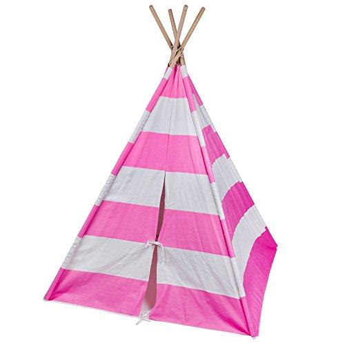 Wildkin Pink & White Striped Canvas Teepee