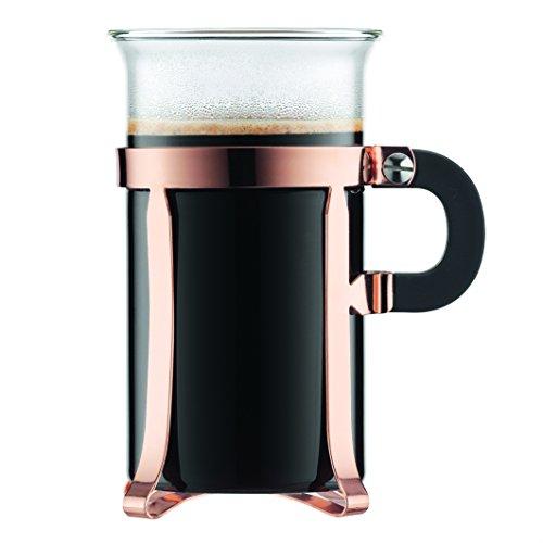 Bodum Chambord Classic 2 Piece Coffee Glass, 10 oz, Copper