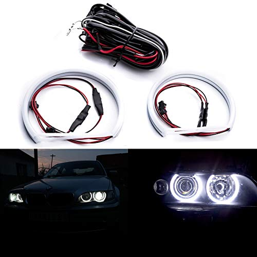 1 Set e46 SMD LED Angel Eyes Halo Ring Lighting Kit For BMW E46 Coupe/Sedan 3 Series Non-HID Headlights Version