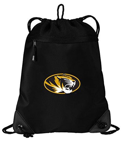 Broad Bay Mizzou Drawstring Bag University of Missouri Cinch Pack Backpack Unique MESH & Microfiber