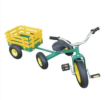 All Terrain Tricycle with Wagon (Green), #CART-042 ()