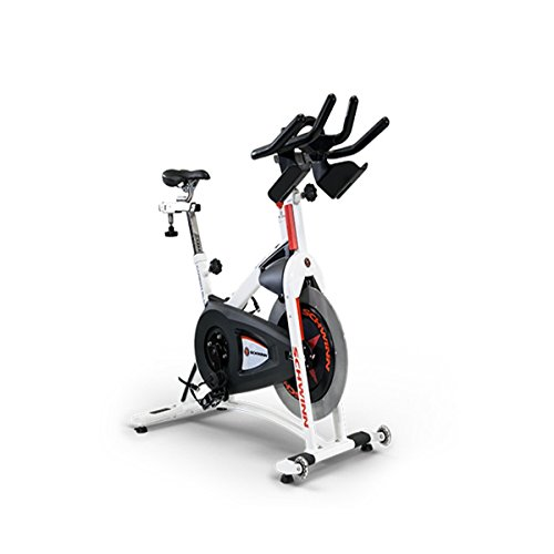Schwinn A.C. Sport Indoor Bike with Carbon Blue Belt Drive and Morse Taper - White Stairmaster