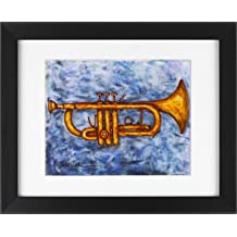 Trumpet - Jazz Music Brass Band Framed Art Print