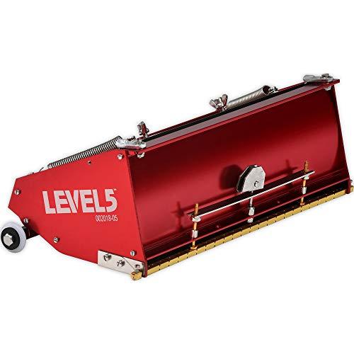 12-Inch MEGA Flat Box - LEVEL5 | Pro-Grade | High Capacity + Easy Clean | Drywall Sheetrock Gyprock Wallboard Finishing | 4-769