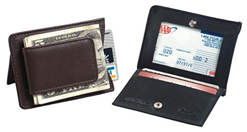 Magnetic Leather Money Clip Color: (Napa Leather Magnetic Money Clip)