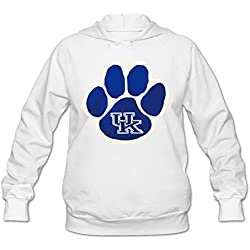 Women Wildcats Pawprint Hoodie White 100% Cotton