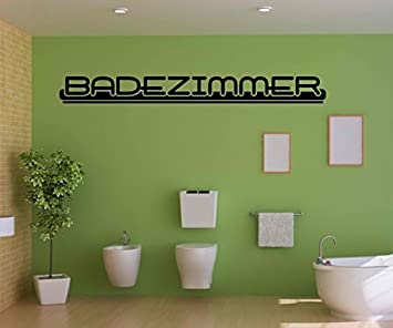 Wandtattoo Badezimmer Anschrift Wand Sticker Aufkleber Wandbild ...