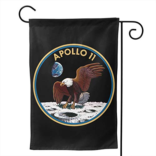 - NINHINC Apollo 11 Mission Logo Decorative Garden Flag Home Flags Outdoor Activities Flag