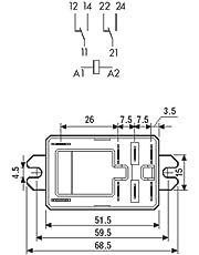 Finder serie 66 - Rele potencia faston 2 contacto abierto 230vac
