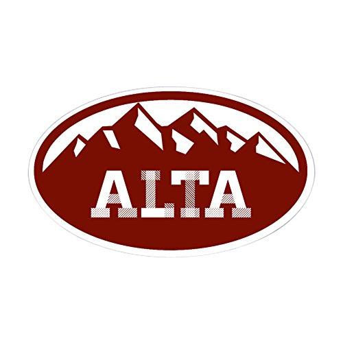 CafePress Alta Utah Oval Bumper Sticker, Euro Oval Car Decal -