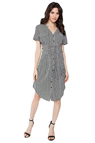 Sugar Lips Saira Corset Striped Dress - XS