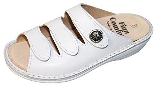 Blanco Mujer Zuecos Finn Para De Comfort Cuero qnvnWF0R