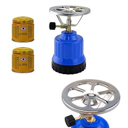 Megaprom E190 Gaskocher | Campingkocher | Camping Kocher | Kochplatte mit Kochaufsatz für Outdoor, Picknick & Wandern