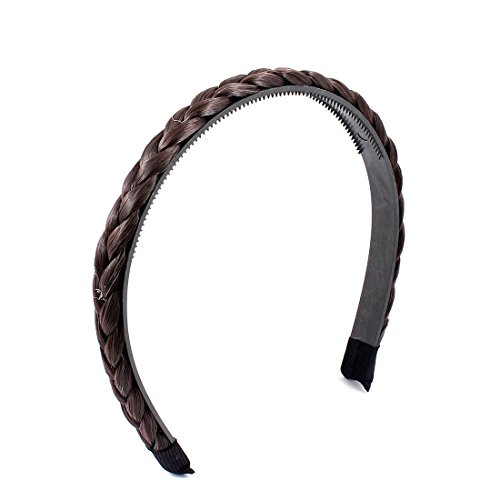Brown Braided Detail Adjustable Headband