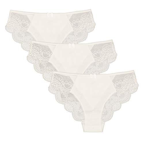 993b6dbc5e5ba Jual Women s Sexy Cotton NO Show Lace Back Bikini Panty Briefs ...