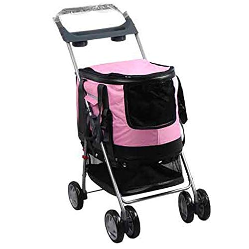 Automatic Roadster - Ldlms Pet Supplies Pet Jogger with 2 Front Swivel Wheels, Dog Strollers Easy Foldable with Handle Reversion Function, Pet Roadster Strong Load Bearing Capacity (Color : D)